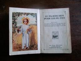 Klein Oud   Klein          Kerkboekje  1937    Druk.        Anc . Etabl .  SPLICHAL TURNOUT - Livres, BD, Revues