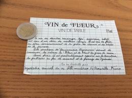 Etiquette «VIN DE TABLE - VIN De FLEUR - Coopérative Vinicole Du Vic-bilh-madiran - CROUSEILLES (64)» - Blancs