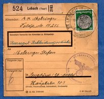 Colis Postal  - Départ Lebach -  Pour Seingbouse  -- 19/1/1943 - Germany