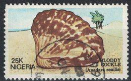 Nigeria 1987 Oblitéré Used Anadara Senilis Mollusque Bivalve Senilia Senilis - Nigeria (1961-...)
