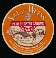 Etiquette Fromage  Petit Munster Géromé Val De Weiss 50%mg Coop Agricole Laitiere De Blamont 54 - Fromage