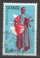 Guinea 1962. Scott #236 (U) Musical Instrument, Bote * - Guinée (1958-...)