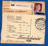 Colis Postal  - Départ St Martin -   19/10/1943 - Storia Postale