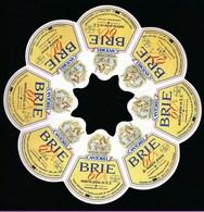 """Etiquette Fromage  Brie Cantorel 60%mg Fabriqué Dans La Meuse 55  """"F55-551-01CEE"""" Export Barcelonne Espagne - Fromage"""