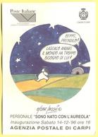 """Tematica - Fumetti - 1996 - Oscar Sacchi - Disegnatore - Personale """"Sono Nato Con L'Aureola"""" - Carpi - Not Used - Fumetti"""