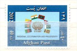 Afghanistan 2012 Regional Cooperation And Prosperity SAARC Economy Economie Wirtschaft Drapeaux Flags Flaggen - Afghanistan