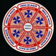 Etiquette Fromage Saint Paulin Croix De Malte Le Comptoir 45%mg Fabriqué En Lorraine  Meuse 55 - Fromage