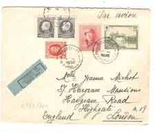 PR6213/ TP 168-211(2)-199-295 Surtaxe S/L.Avion C.BXL 1930 V.Londres England - Postmark Collection