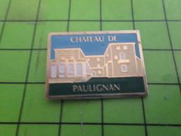 511A Pin's Pins / Beau Et Rare : Thème VILLES / CHATEAU DE PAULIGNAN - Cities