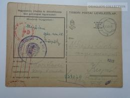 ZA165.29  Hungary  WWII  - Feldpost - German Censure - Tábori Postai Levelezőlap  1942 M.Kir.5(...) Kórház Parancsnokság - Covers & Documents