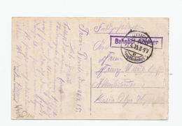 314/28 - LIEGE 14/18 - Carte-Vue En Feldpost LUTTICH 2 Hauptbahnhof 1915 - Griffe Encadrée Violette Bahnhof ANGLEUR - Guerre 14-18