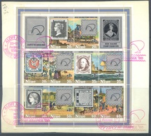 NIUE  - 1980 -  USED/OBLIT. - ZEAPEX 80 AUCKLAND ON FRAGMENT - Yv BLOC 36   - Lot 18908 - Niue