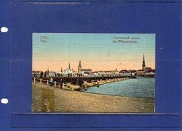 ##(ROYBOX1)- Postcards - Latvia -  Riga,  Die Pontonbrucke - Animated - Used 1912 - Lettonia