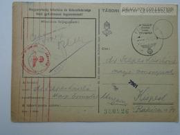 ZA165.31  Hungary  WWII  - Feldpost - German Censure - Tábori Postai Levelezőlap  1942  -Dr. Szepes László  Kispest - Covers & Documents