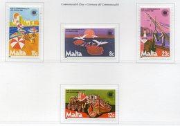 Malta - 1983 - Giornata Del Commowealth - 4 Valori - Nuovi - Vedi Foto - (FDC13873) - Malte