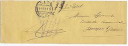 315/28 - LIEGE 14/18 - Bande D' IMPRIME LUTTICH 1916 Vers JEMEPPE S/ Meuse - Griffe Courtois , Inspection Eaux Et Forets - Guerre 14-18