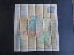 CARTE GEOGRAPHIQUE (M1903) CONGO (2 Vues) Physique, économique Et Administratif A. MICHIELS 1:4 000 000 Patesson Uccle - Geographical Maps