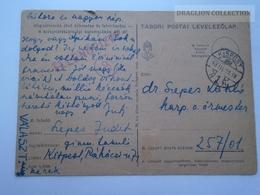 ZA167.3  Hungary  WWII  - Dr. Szepes László  - TP  257/01 Tábori Postai Levelezőlap  -  1943 Kispest -Ellenőrizve - Covers & Documents
