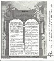 Bloc Feuillet En Noir Du Bicentenaire - Blocs & Feuillets