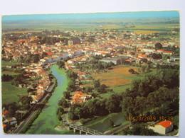 CP 17 MARANS  - Le Canal Maritime Et Vue Générale Vers Marans 1987 - Other Municipalities