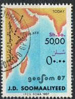 Somalie 1987 Oblitéré Used Geosom 87 Géologie Today Aujourd'hui - Somalia (1960-...)
