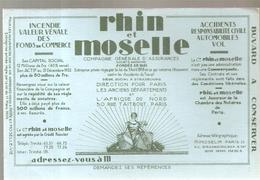 Buvard Rhin Et Moselle Compagnie Générale D'assurances - Banque & Assurance