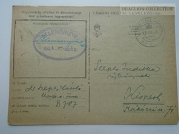 ZA167.2  Hungary  WWII  - Dr. Szepes László  - TP B787  Tábori Postai Levelezőlap  -  1943 Kispest -Ellenőrizve - Covers & Documents