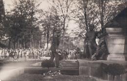 Carte Photo Fotokaart Luxemburg Luxembourg Monument Aux Morts Tombés Pour La France Roi Albert Koning 1914 1918 - Luxemburg - Town