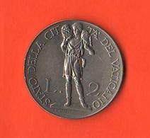 2 Lire 1933 1934 Papa Pio XI Vaticano Vatikan Coniati 60.000 Mintage - Vaticano
