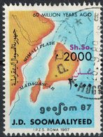 Somalie 1987 Oblitéré Used Geosom 87 Géologie 60 Million Years Ago - Somalie (1960-...)