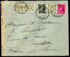 BELGIQUE - N° 420 (3) + 528 + 571 / LETTRE DE CHARLEROI LE 23/3/1942 POUR LA SEINE AVEC CENSURE - TB - Belgique