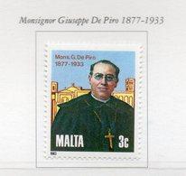 Malta - 1983 - Monsignor Giuseppe De Piro (1877-1933) - 1 Valore - Nuovo - Vedi Foto - (FDC13878) - Malte
