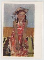 5455 Young Girl  Soviet Artist E. Moiseenko - Pittura & Quadri
