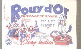 Buvard ROUY D'OR Fromage De Santé Camp Indien - Produits Laitiers