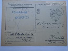 ZA167.9 Hungary  WWII -Dr. Szepes László -TP 257/01 Tábori Postai Levelezőlap - 1943 Kispest -Ellenőrizve Christmas - Covers & Documents