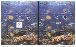 PHILIPPINES, 2013, MNH,MARINE BIODIVERSITY, TURTLES, CORALS,FISH, JELLYFISH,2  SHEETLETS - Turtles
