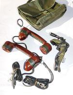 LOT 3 COMBINES RADIO TELEPHONIQUES ARMEE FRANCAISE + SACOCHE - Radio's
