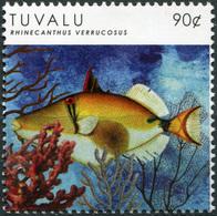 Tuvalu. 2012. Fish. Blackbelly Triggerfish (Rhinecanthus Verrucosus) (MNH OG **) Stamp - Tuvalu
