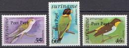 Surinam MNH Overprinted Set - Birds