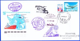 """IGY, RAE 53 , """"AKAD. FEDOROV"""",2007 Base Mirny,4 Cachets + Postmarks !! Look Scan !! 17.11.85 - Année Géophysique Internationale"""