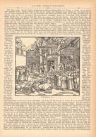 118 Deutsches Mittelalter 1 Artikel Mit Ca. 7 Bildern Von 1888 !! - Historische Dokumente