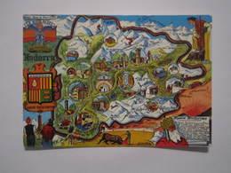 CARTE GEOGRAPHIQUE - ANDORRA - Quelques Vues Et Blasons - Plan De L'Andorre - Maps