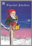 Postal Stationery Red Cross Finland - Elf Sitting On Electric Wire Illustr. Tarja Senne - Used - Finlande