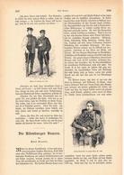 120 Altenburger Bauern Sachsen 1 Artikel Mit Ca. 7 Bildern Von 1886 !! - Historische Dokumente