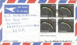 Zimbabwe 2001 Harare Solar Eclipse Cover - Zimbabwe (1980-...)