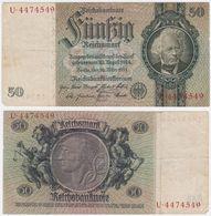 Germany P 182 A - 50 Reichsmark 30.3.1933 - VF - [ 3] 1918-1933 : Repubblica  Di Weimar
