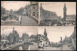 GENT 4 KAARTEN EXPO 1913  UITGAVE  DE GRAEVE - Gent