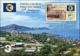 Papua New Guinea. 2018. 50th Anniversary Of United Church In Papua New Guinea (MNH OG **) Souvenir Sheet - Papouasie-Nouvelle-Guinée