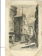 75 CPA Paris Gravure Eau Forte Rues Vieilles Du Temple Eet Francs Bourgeois  Charles Pinet Graveur N° 41 - France