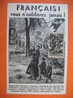 """Carte Maximum France 1943 N° 584  Au Profit Du Secours National  """" Français ! Vous N'oublierez Jamais ! - 1940-49"""